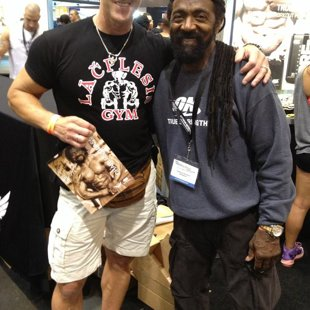 With trainer of champions and famous Arnold era bodybuilder Charles Glass