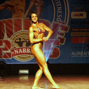 NABBA/WFF/LKFF Baltic Open Championship 2015. Fitness figure category.