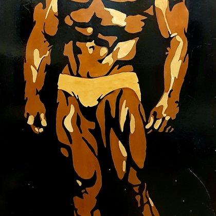 F.Zeina koka aplikāciju glezna 150 x 80 cm.               Cena 34,99 eur.
