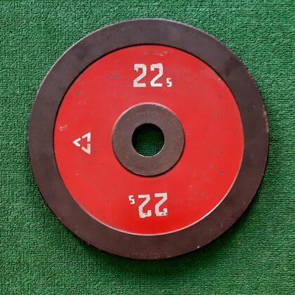 Reti 22,5 kg.dzelzs diski. Caurumu diam.55mm.(padomju standarts) Cena 130,00 eur