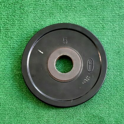 5 kg gumijots disks. Cauruma diam. 50 mm. Pāris- 2gab. 35,00 eur.