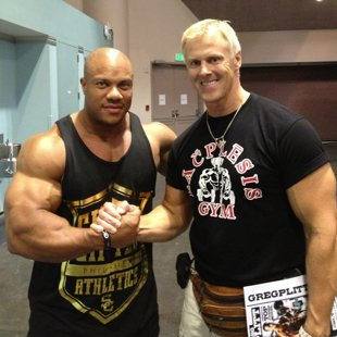 With multiple Mr.Olympia - Phil Heath — with Phil Heath