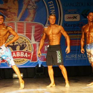 NABBA/WFF/LKFF Baltic Open Championship 2015. Men's Physique category.